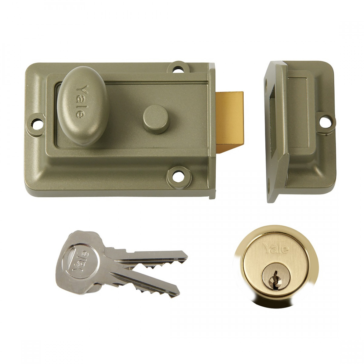 Yale 77 Traditional Rim Nightlatch 60mm Backset Enb