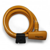 Squire 116 Bicycle Cable Lock - 10mm x 1800mm - Tangerine