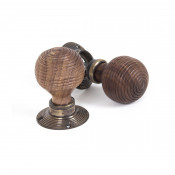 From The Anvil Beehive Knob Set - Rosewood & Aged Brass