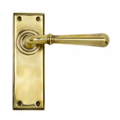 From The Anvil Newbury Latch Handles - Aged Brass
