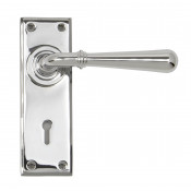 From The Anvil Newbury Lock Handles - Polished Chrome