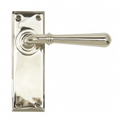 From The Anvil Newbury Latch Handles - Polished Nickel