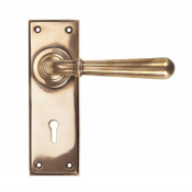 From The Anvil Newbury Lock Handles - Polished Bronze