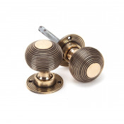 From The Anvil Beehive Heavy Knob Set - Polished Bronze