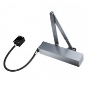 Exidor 9870 EN4 Hold Open / Free Swing E-Mag Door Closer - Square Cover - Silver