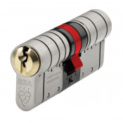 ERA Fortress TS007 3 Star Sold Secure Diamond Euro Double Cylinder - 35/45 (80mm) - Dual Finish