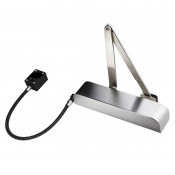 Exidor Guardian EN4 Free Swing Door Closer with Anti-Slam - Radius Cover - Satin Stainless Steel