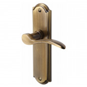 M.Marcus Howard Latch Handles - Antique Brass