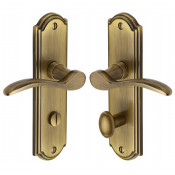 M.Marcus Howard Bathroom Handles - Antique Brass
