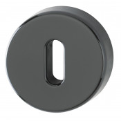 Hoppe Nylon Lever Key Escutcheon (pair) - Ebony Black RAL9017