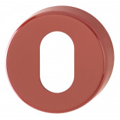 Hoppe Nylon Oval Profile Escutcheon (pair) - Red RAL3003