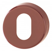 Hoppe Nylon Oval Profile Escutcheon (pair) - Claret (Burgundy) RAL3005
