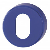 Hoppe Nylon Oval Profile Escutcheon (pair) - Cobalt Blue RAL5002