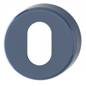 Hoppe Nylon Oval Profile Escutcheon (pair) - Midnight (Dark) Blue RAL5003