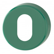 Hoppe Nylon Oval Profile Escutcheon (pair) - Green RAL6016
