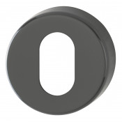 Hoppe Nylon Oval Profile Escutcheon (pair) - Anthracite Grey RAL7016