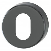 Hoppe Nylon Oval Profile Escutcheon (pair) - Ebony Black RAL9017