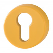 Hoppe Nylon Euro Profile Escutcheon (pair) - Golden Yellow RAL1004