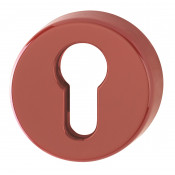 Hoppe Nylon Euro Profile Escutcheon (pair) - Red RAL3003