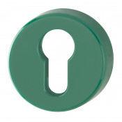 Hoppe Nylon Euro Profile Escutcheon (pair) - Green RAL6016