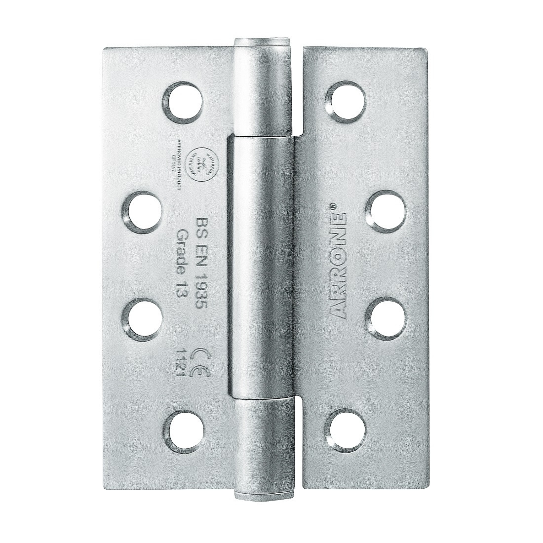 "Arrone 102x76mm (4"" X 3"") Grade 13 Concealed Bearing Butt Hinge with Square Corners (1.5 pair) - SSS"
