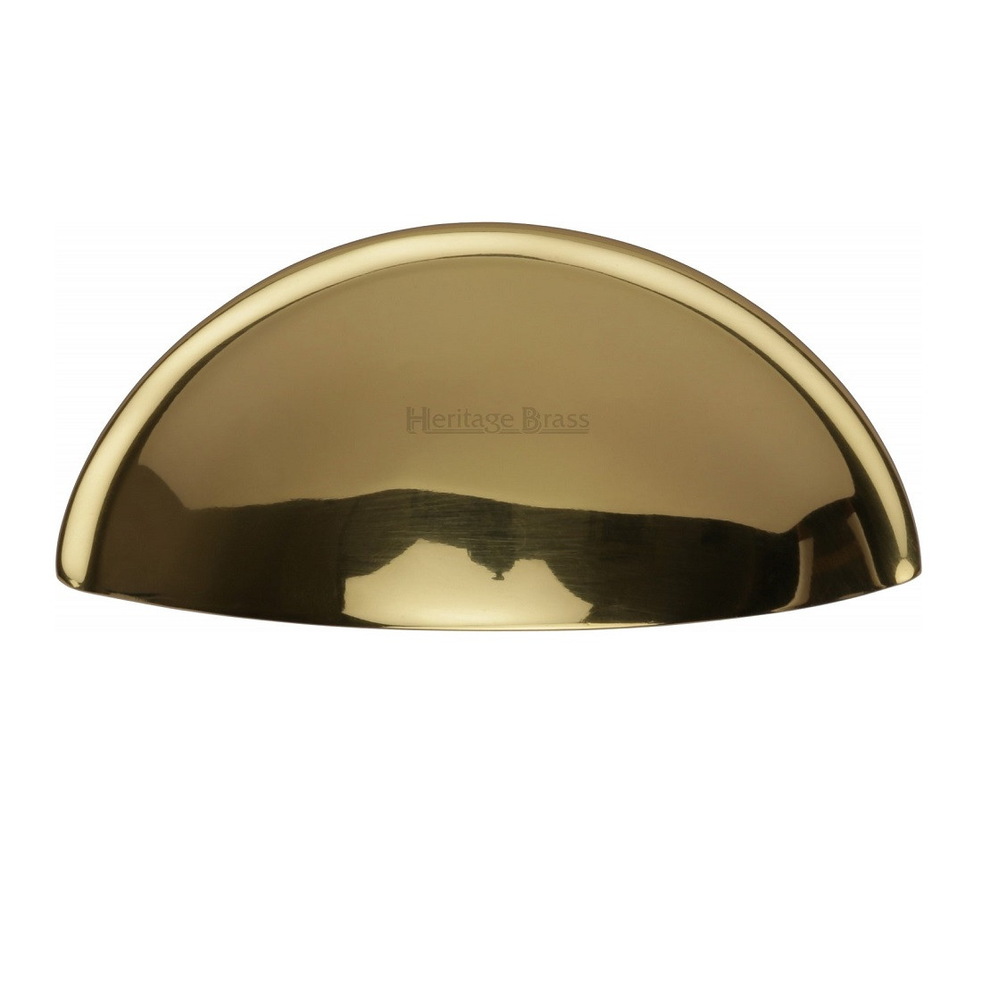 m marcus cup handle drawer pull polished brass