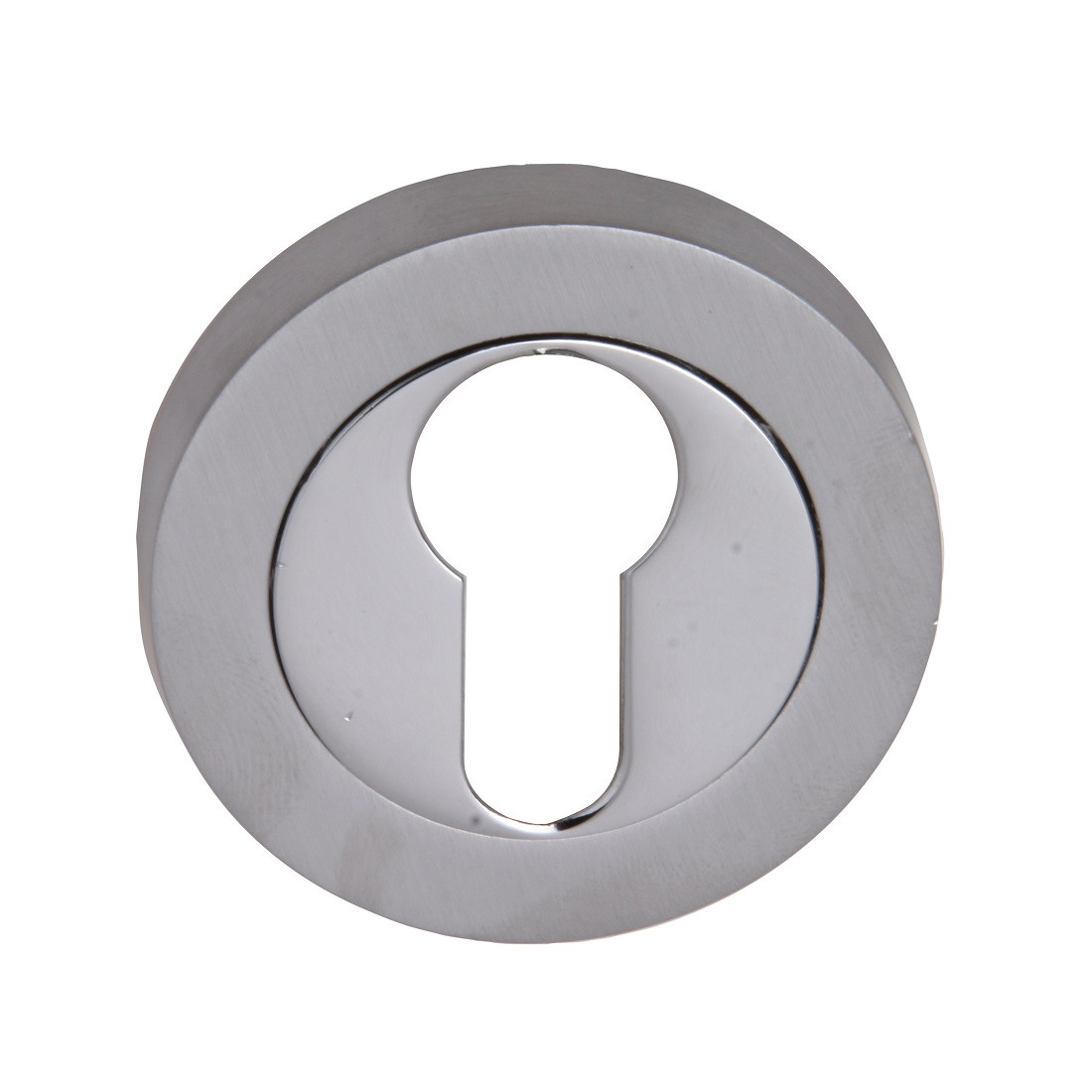 Fortessa Euro Profile Round Escutcheon (pair) - Satin & Polished Chrome Dual Finish