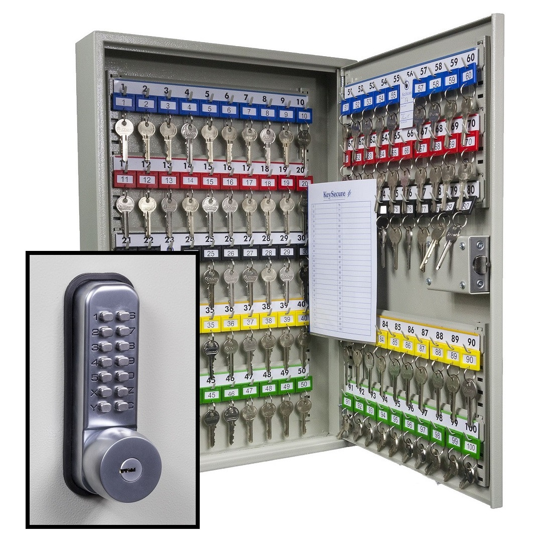 KeySecure Key Cabinet With Digital Lock and Key Override ...