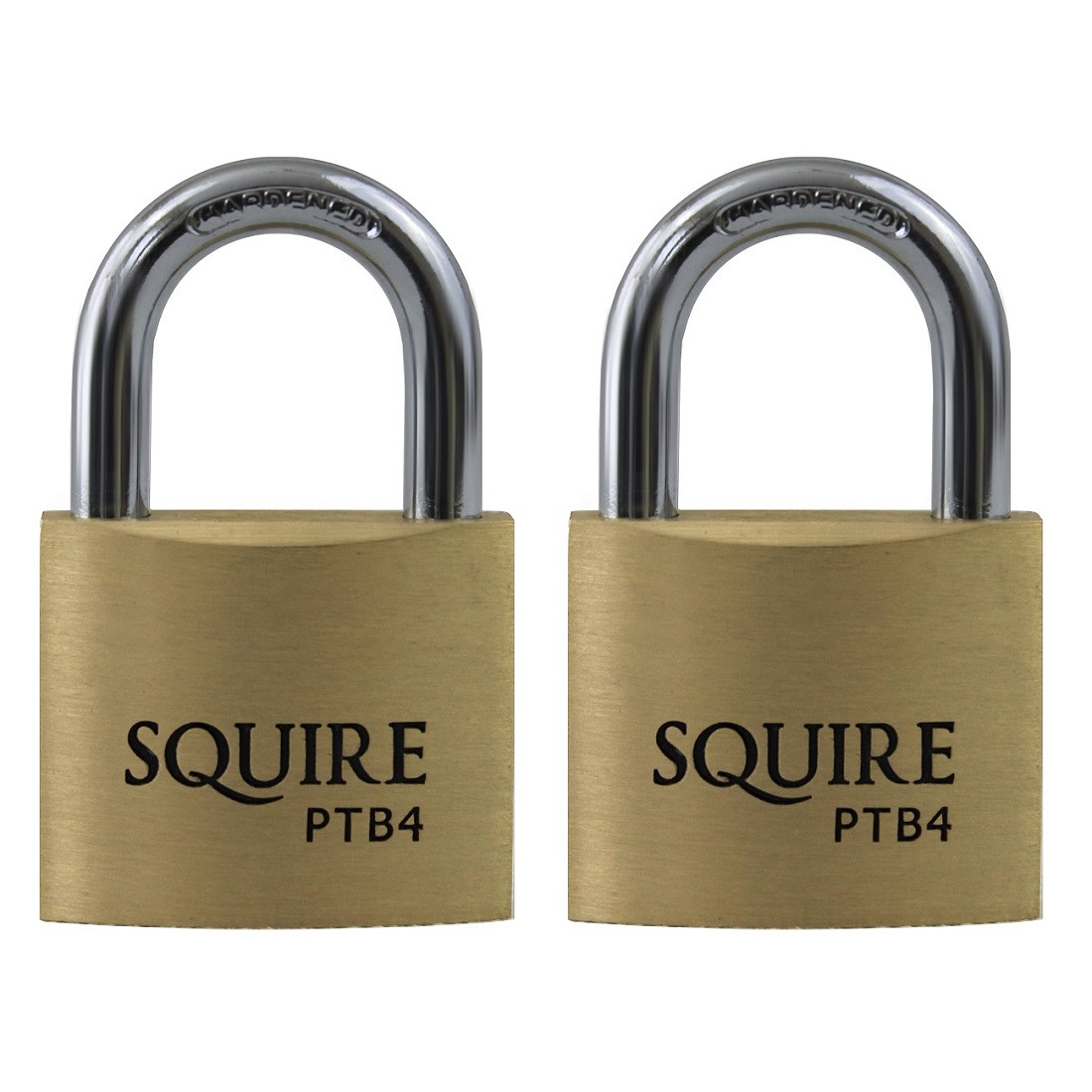 Squire Panther PTB4 Solid Brass Keyed Alike Twin Pack 40mm Padlocks