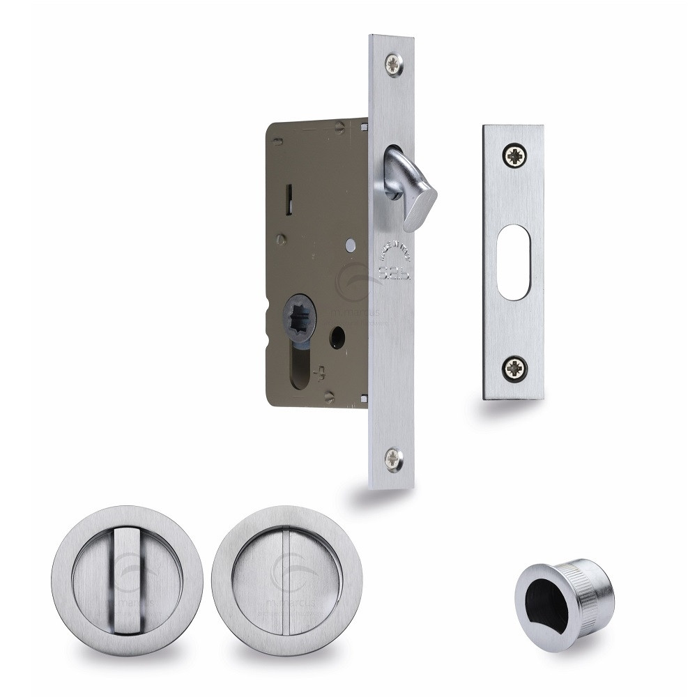 2 pc Stain Chrome Latch Hasp Staple Cabinet Gate Door Lock Set Safety Hardware