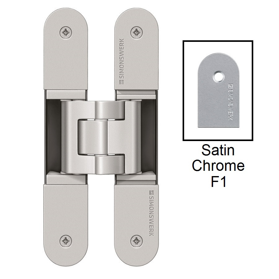 Simonswerk Tectus TE340 3D FR Concealed Hinge for Fire Doors - Satin Chrome (F1)