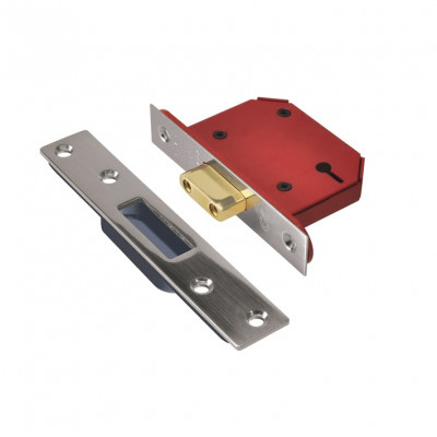 "Union StrongBOLT 2103 3 Lever Deadlock - 68mm (2.5"") Case - 45mm Backset - Stainless Steel"