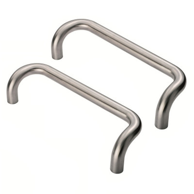 Eurospec Cranked Back to Back Pull Handle 25x300mm - Grade 316 SSS
