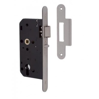 Union 2C25 DIN Style Euro Deadlocking Nightlatch with Radius Forend - 83mm Case - 55mm Backset - SSS