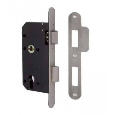 Union 2C26 DIN Style Euro Escape Lock with Radius Forend - 83mm Case - 55mm Backset - SSS
