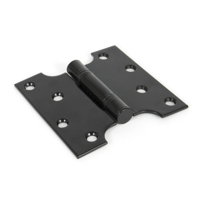 """From The Anvil 4"""" x 2"""" x 4"""" Parliament Butt Hinges (pair) - Black"""