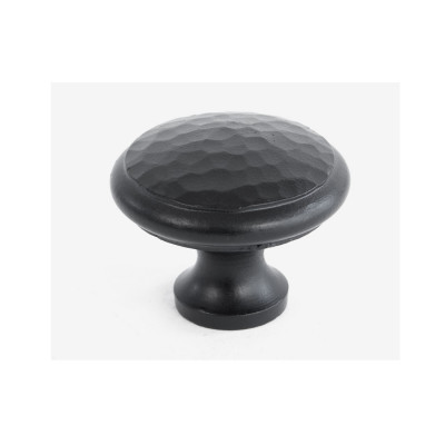 From The Anvil Large Beaten Cupboard Knob - Black