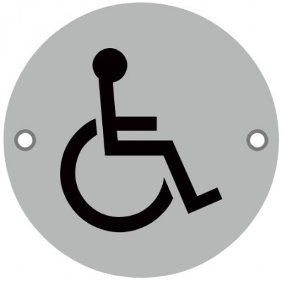 76mmØ Disabled / Wheelchair Screw Fix Sign - SAA