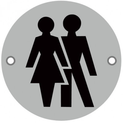 76mmØ Unisex Screw Fix Sign - SAA