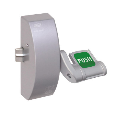 Union Eximo 804N EN179 Single Point Push Pad Latch - Silver