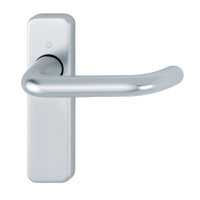 Hoppe Paris 19mmØ Return to Door Lever Handles on Latch Plate - SAA