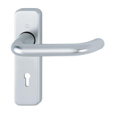 Hoppe Paris 19mmØ Return to Door Lever Handles on Lock Plate - SAA