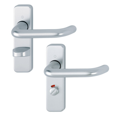 Hoppe Paris 19mmØ Return to Door Lever Handles on Bathroom Plate - SAA