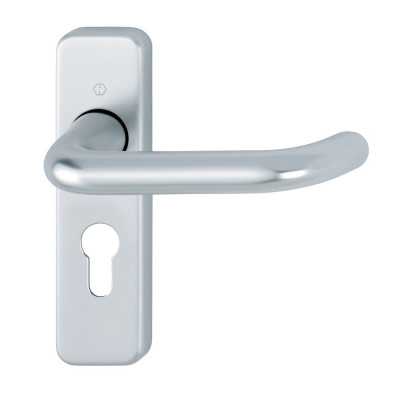 Hoppe Paris 19mmØ Return to Door Lever Handles on Euro Plate - SAA