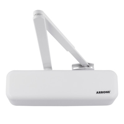 Arrone AR3500 EN2-4 Overhead Door Closer - Designer Cover - Diamond White RAL9016