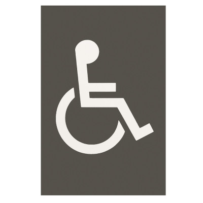 Arrone Nylon Disabled Sign 150mm x 100mm - Anthracite Grey RAL7016