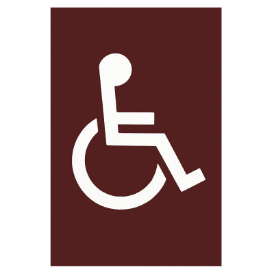 Arrone Nylon Disabled Sign 150mm x 100mm - Claret (Burgundy) RAL3005