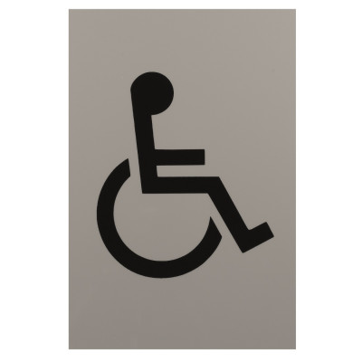 Arrone Nylon Disabled Sign 150mm x 100mm - Dove Grey RAL7506