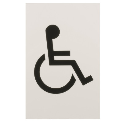 Arrone Nylon Disabled Sign 150mm x 100mm - Diamond White RAL9016