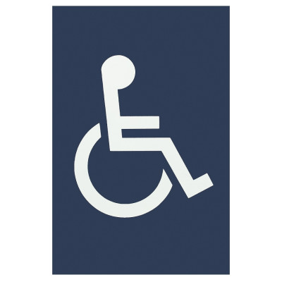 Arrone Nylon Disabled Sign 150mm x 100mm - Midnight (Dark) Blue RAL5003